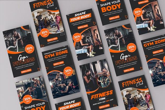 Fitness Bodybuilding Instagram Stories Template