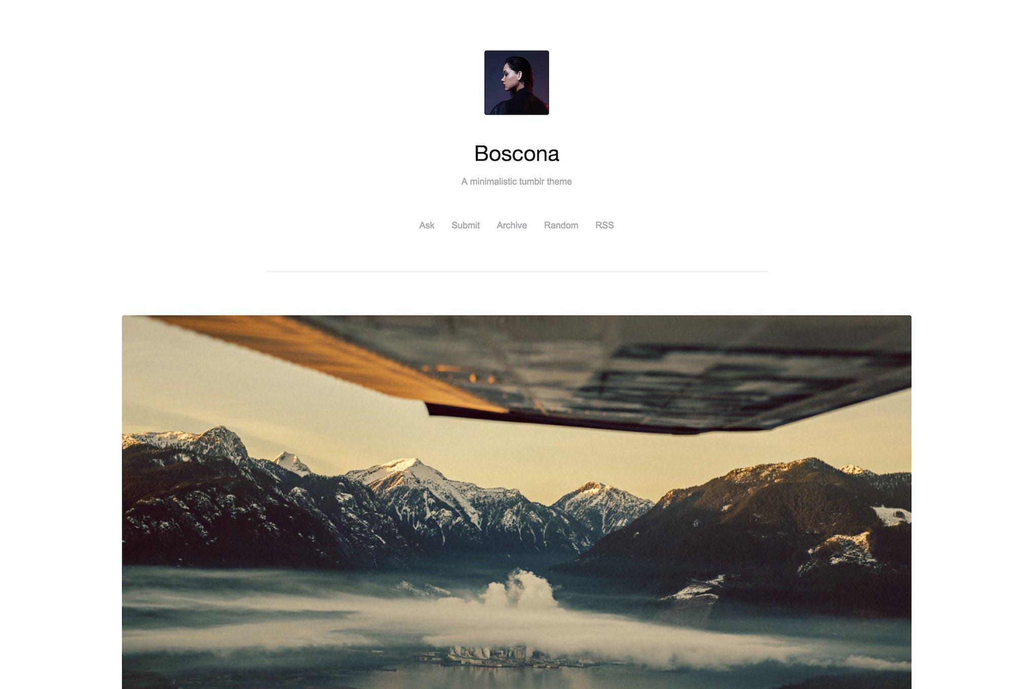 Boscona - Minimal One Column Theme