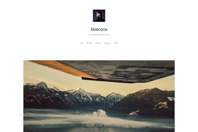 Boscona - Minimal One Column Theme