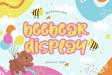 Beebear Display Font