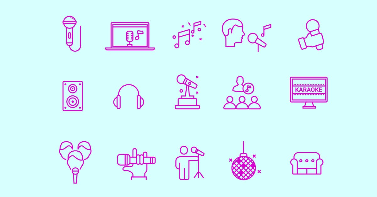 Download 15 Karaoke Icons by creativevip