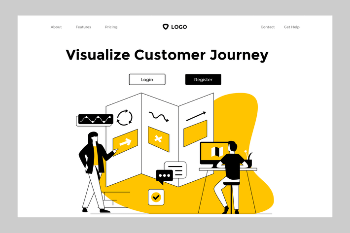 Thumbnail for Customer Journey - Web Mobile Landing Page Banner