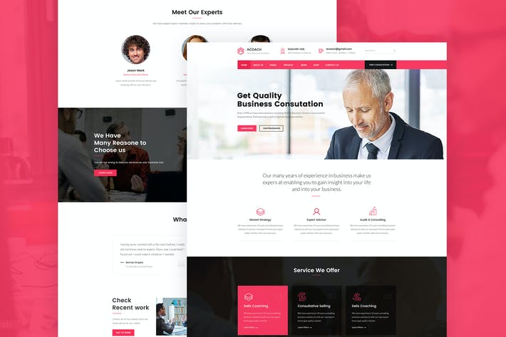 Thumbnail for Acoach - Business Coach & Training PSD Template