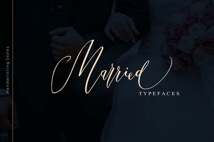 Thumbnail for Married Typeface
