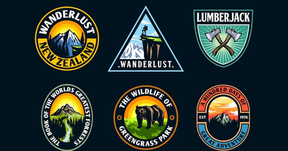 Download Set of Modern Adventure Logo Badge by Suhandi