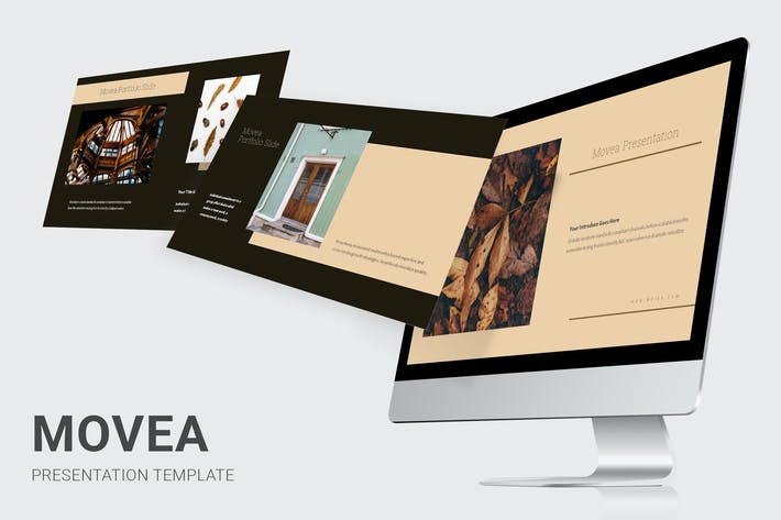 Thumbnail for Movea - Brown Color Theme Powerpoint