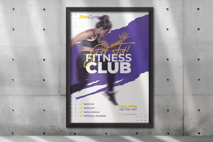 Thumbnail for Fitness Gym Poster Template