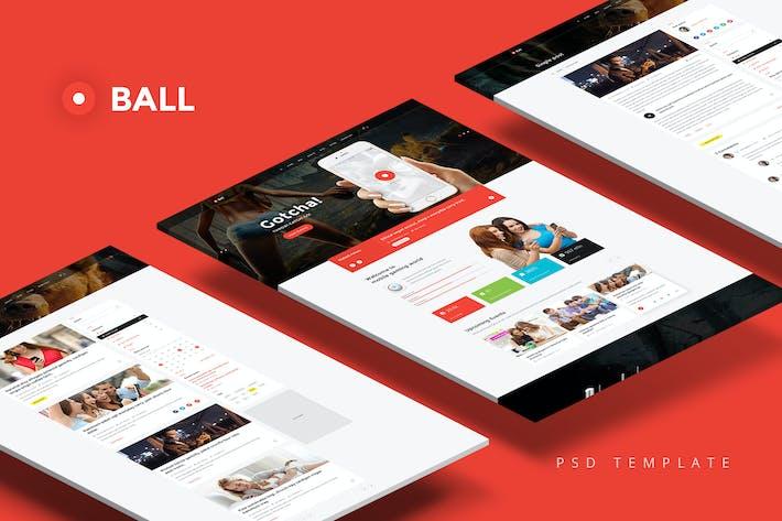 Thumbnail for Bola — Plantilla PSD Multifunción portfolio/Evento