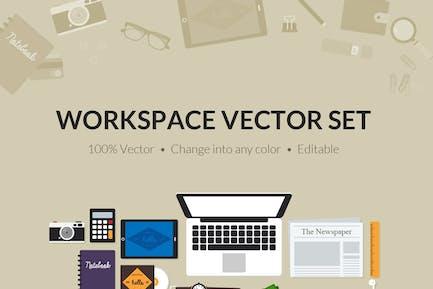Herramientas de espacio de trabajo Creativo plano