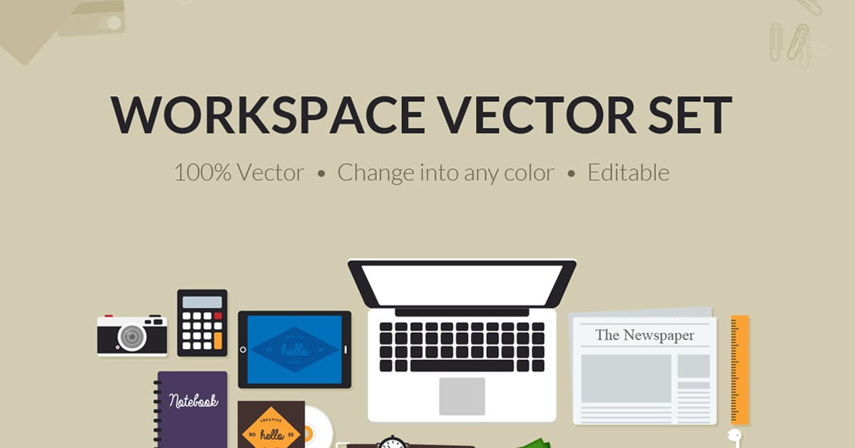 Download Flat Creative Workspace Tools by vuuuds