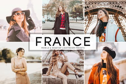 France Mobile & Desktop Lightroom Presets