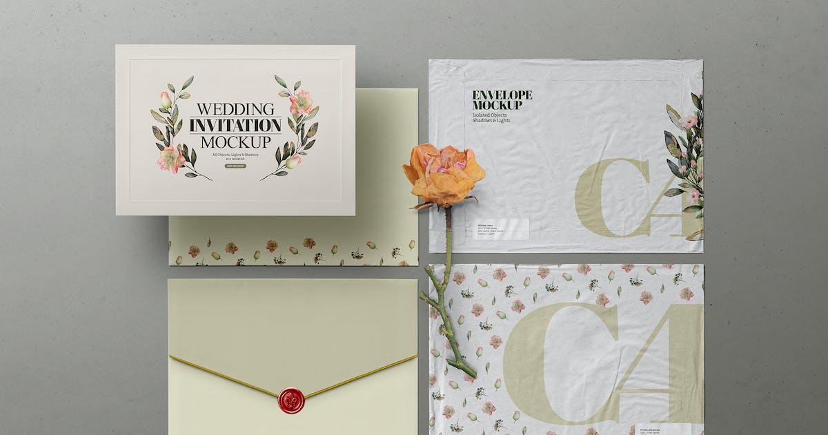 Download Envelope Mockup C4 Mailing Wedding Invitation by Easybrandz-AvelinaStudio