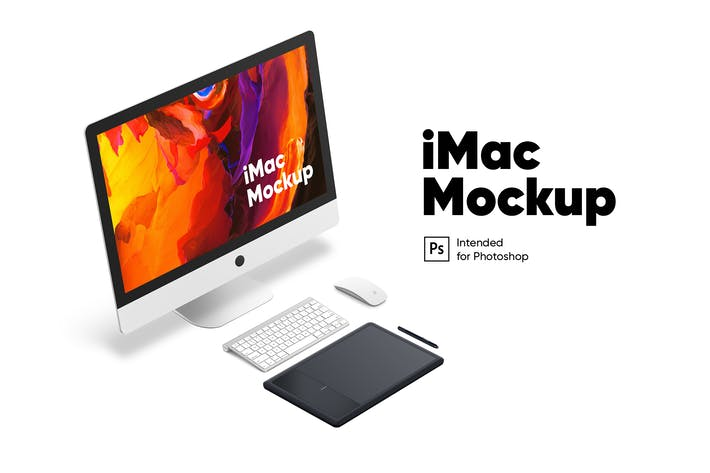 Thumbnail for Workplace iMac mockup