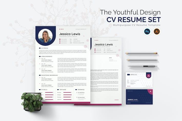 Youthful Design Cv Resume