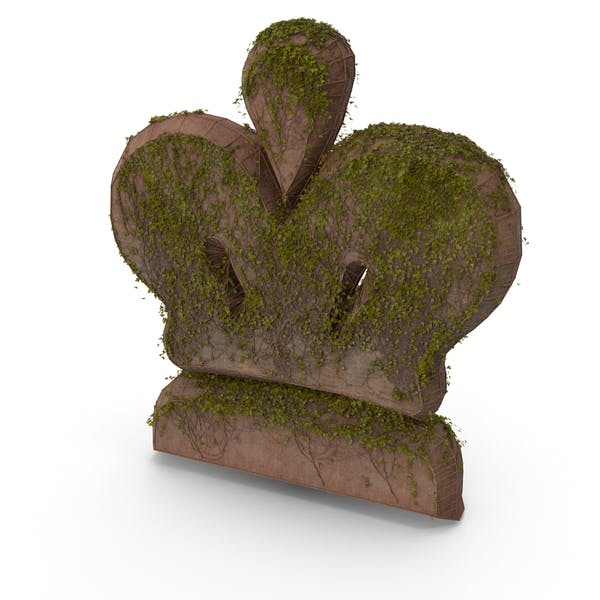 Stone With Ivy Chess King Symbol