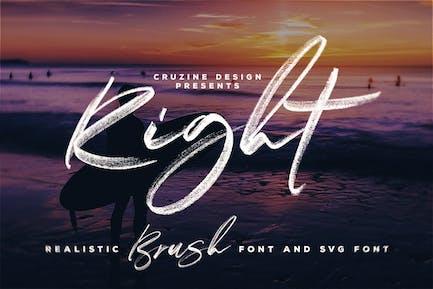 Right Brush & SVG Font