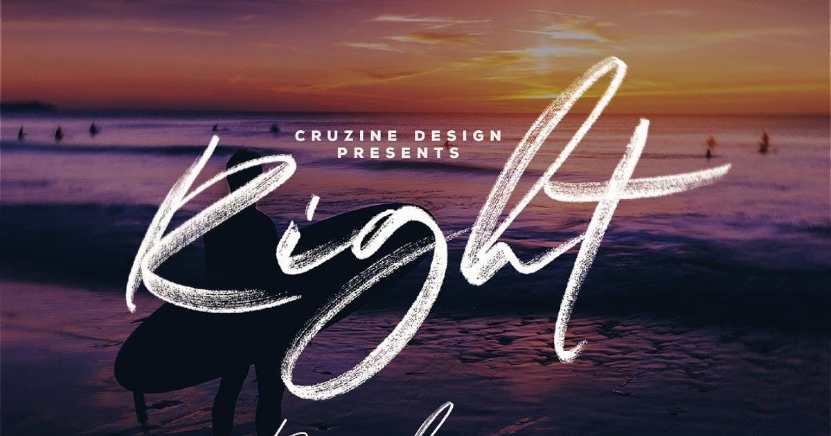 Download Right Brush & SVG Font by cruzine