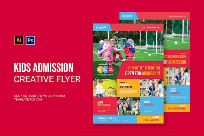 Kids Admission - Flyer