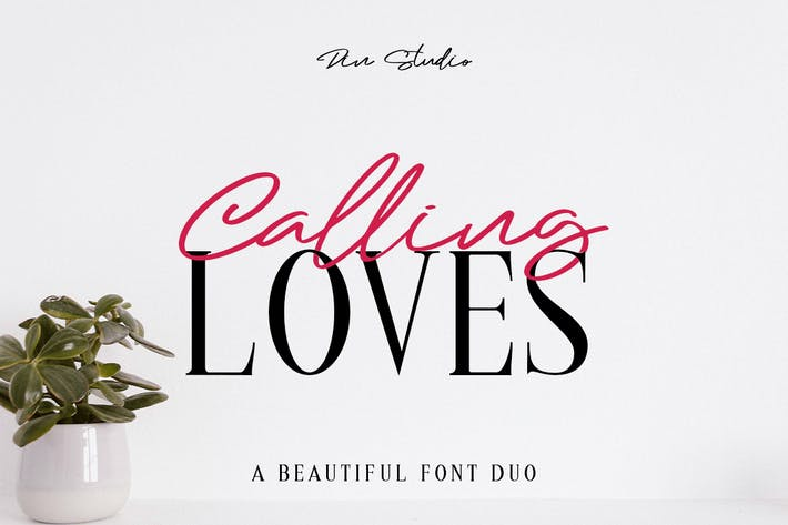 Thumbnail for Calling Loves - Font Duo