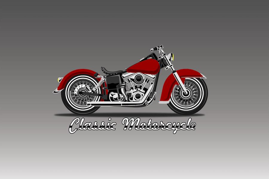 Motor Ride - Vector Illustration