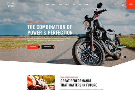 Keymoto - Motorcycle HTML Template