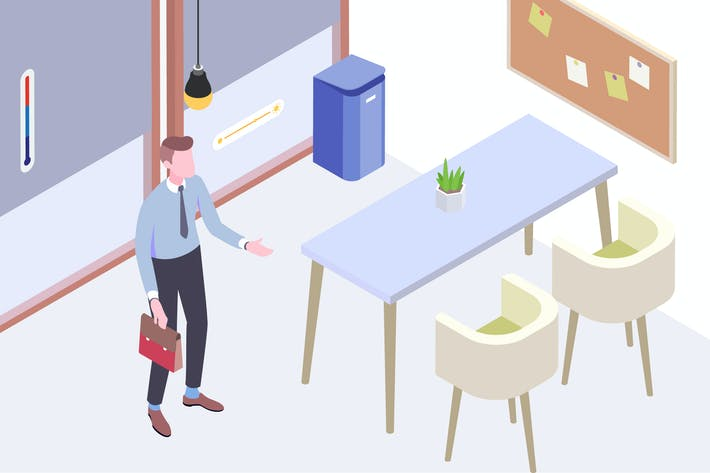 Thumbnail for Smart Things for Smart Home Isometric Illustration