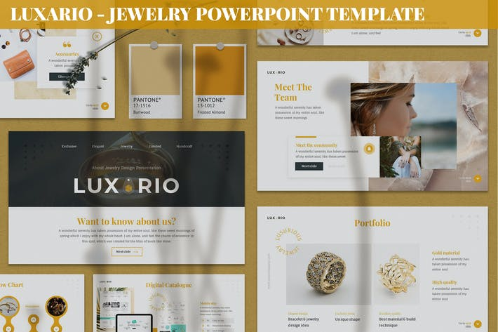 Luxario - Jewelry Powerpoint Template