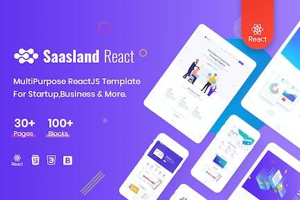 Saasland - MultiPurpose React Template For Startup