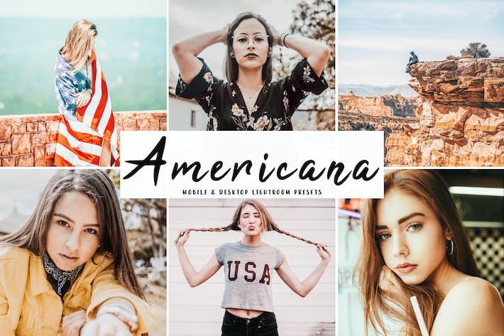 Thumbnail for Americana Mobile & Desktop Lightroom Presets