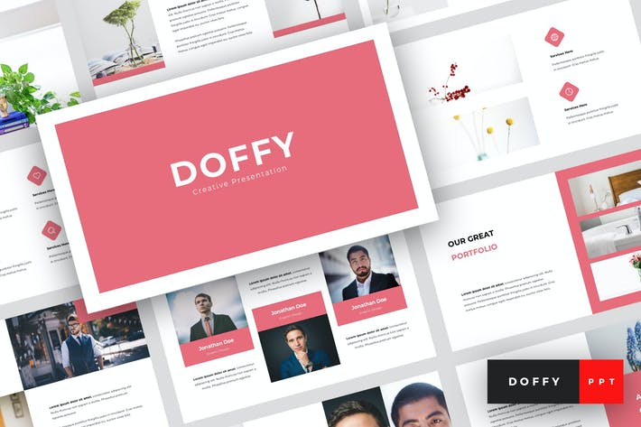 Thumbnail for Doffy - Creative PowerPoint Template
