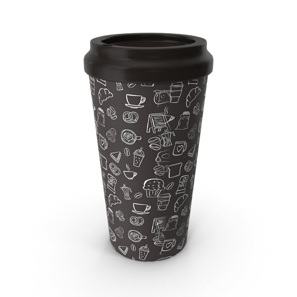 Paper Cup Brown Patterned