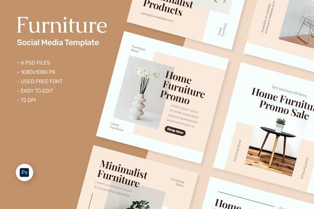 Calista - Furniture Sale Instagram Template