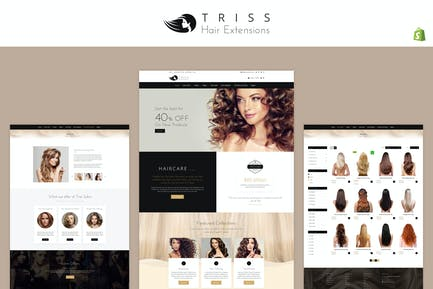 Трисс - Салон и Парикмахерская Shopify Тема