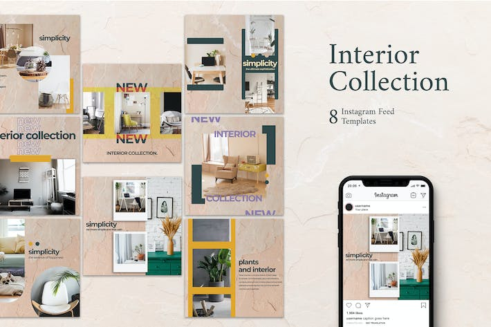 Thumbnail for Home Interior - Instagram Post Template