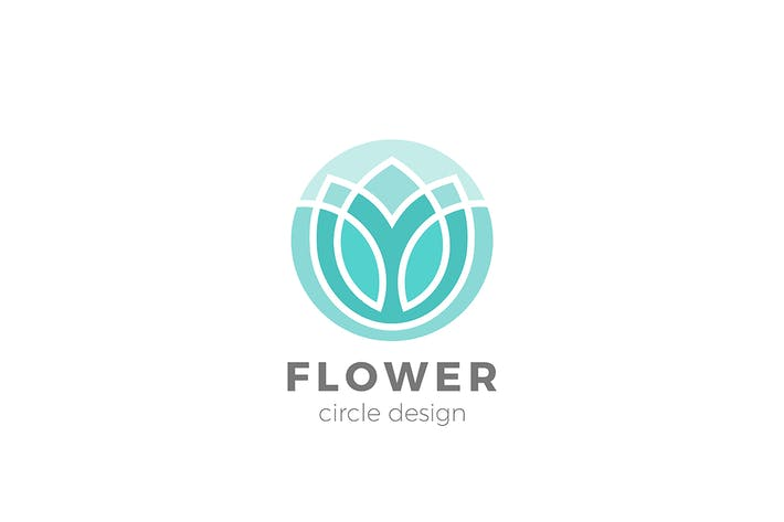 Thumbnail for Flower Logo Circle shape Lotus Yoga design