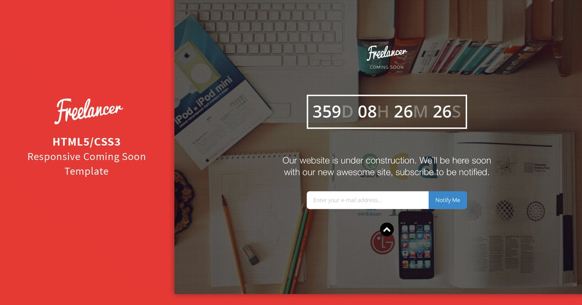 Download Freelancer - Responsive Coming Soon Template by Shegy