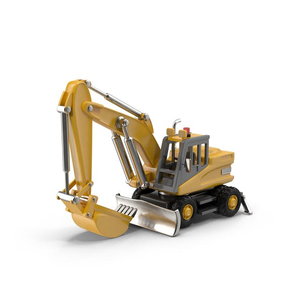 Cover Image for Cartoon Rubber-Tired Excavator