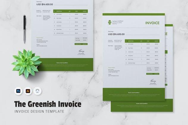 Greenish Invoice