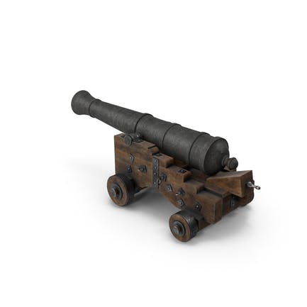 Medieval Gun on Gun Carriage