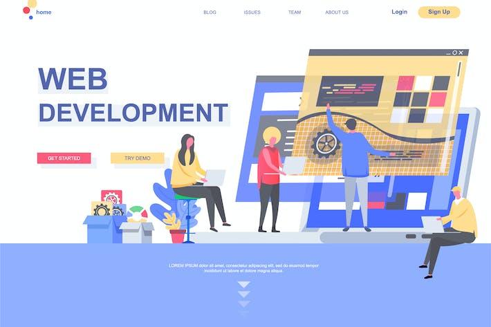Thumbnail for Web Development Landing Page Template
