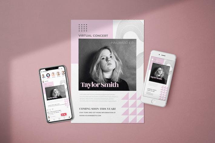 Virtual Concert - Flyer Media Kit