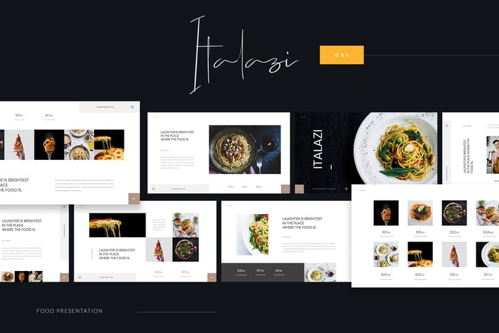 Thumbnail for Italazi - Italian Food Google Slides Template