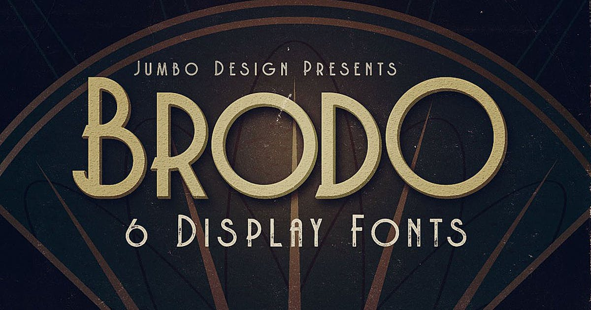 Download Brodo - Display Font by cruzine