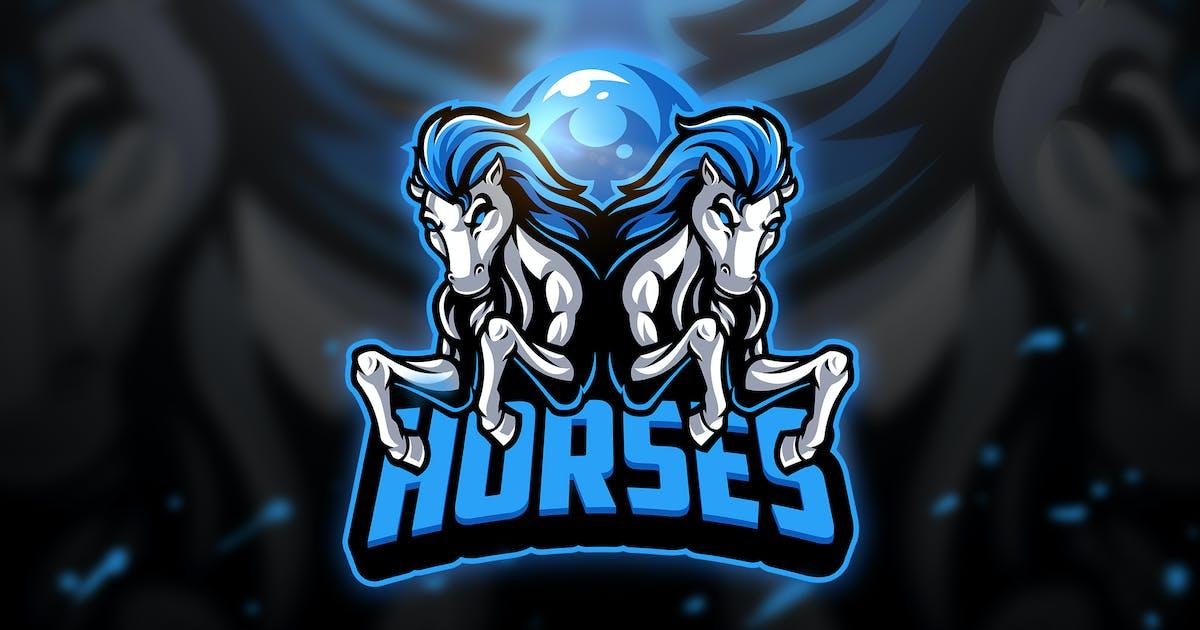 Download Horses 2 - Mascot & Esport Logo by aqrstudio