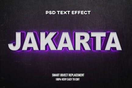 Purple glow on wall text effect