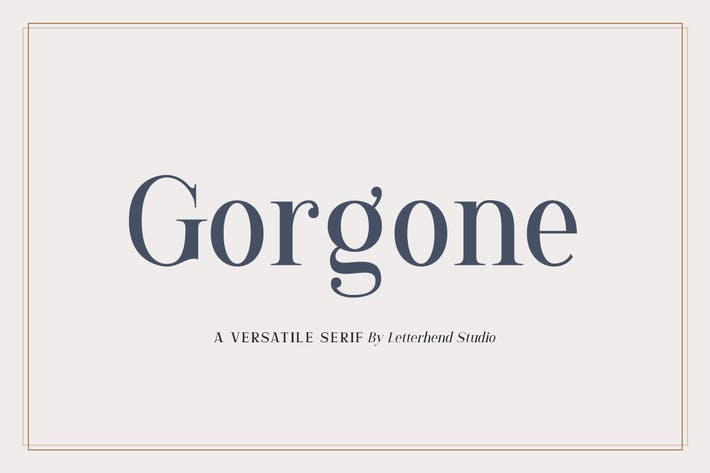 Thumbnail for Gorgone - A Versatile Serif