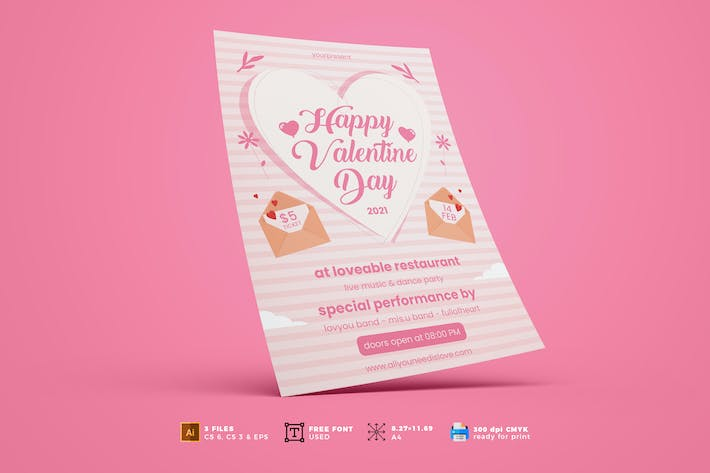 Thumbnail for Valentine Day Flyer Template Vol. 01