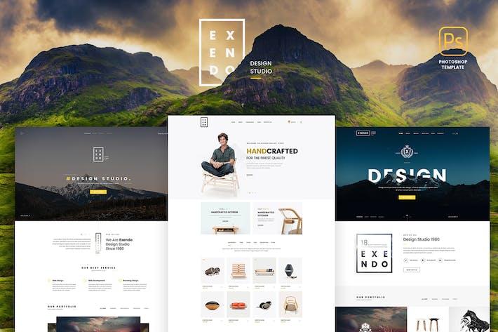 Thumbnail for Exendo - Creative PSD Template