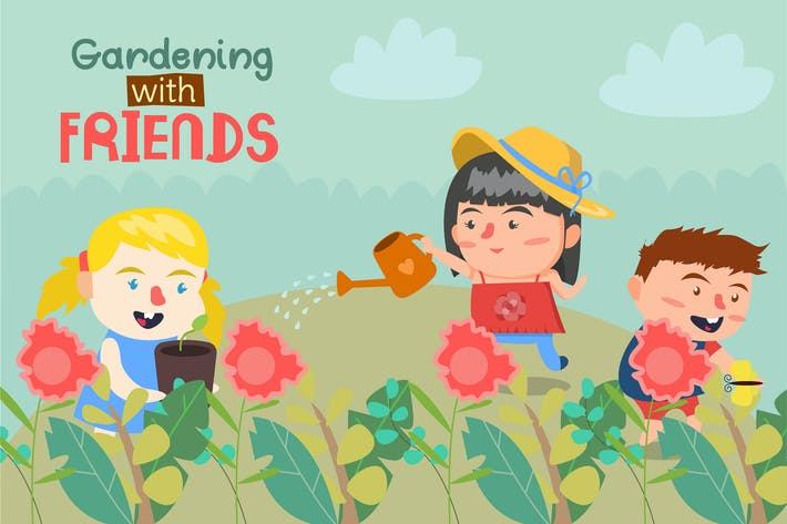 Thumbnail for Flower Garden - Vector illustration