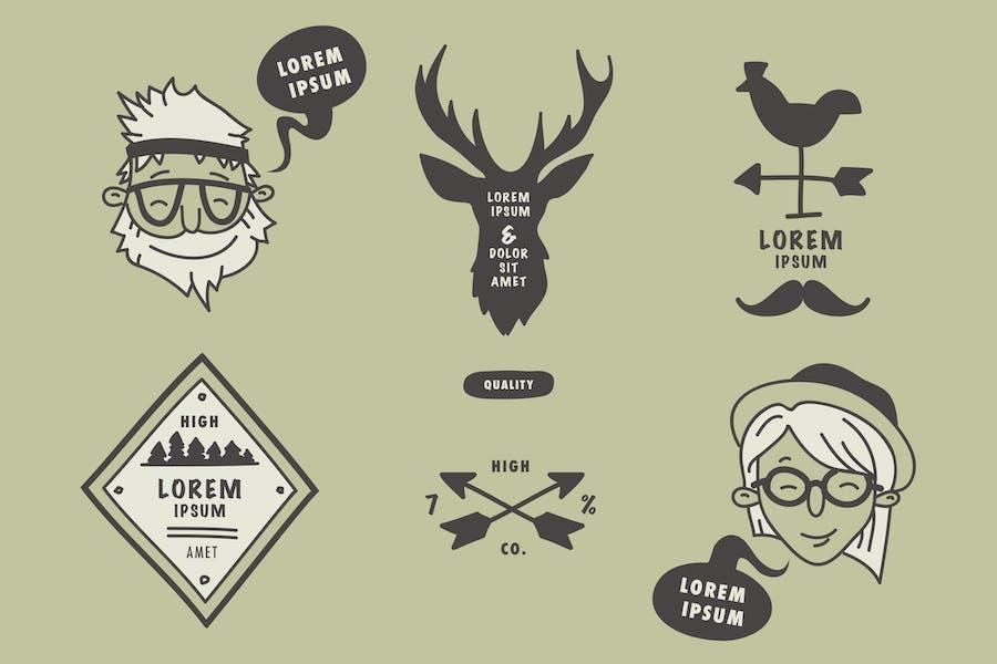 Hipster Doodle Badges